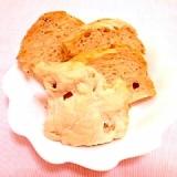 薄力粉で作るバナナ&レーズンのHBパン