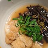 蕨と薄揚げの煮物