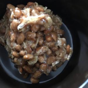 ごまと小エビの納豆