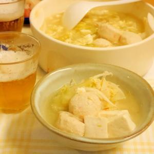酸辣湯麺風★鶏団子鍋★創味シャンタン鍋