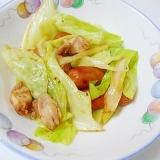 鶏なんこつとウインナーで 野菜炒め