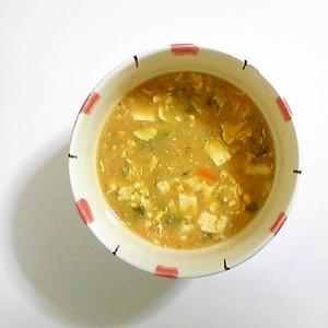 卵あんかけと餅のスープ