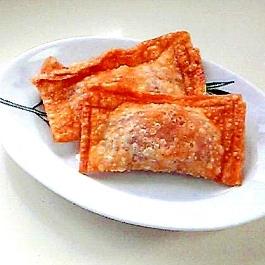 ワンタンの皮で作るミニホットアップルパイ