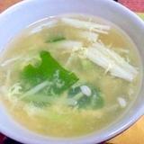 ダシダで♪えのきとワカメの卵スープ