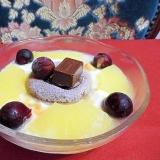 冷凍フルーツのヨーグルトデザート