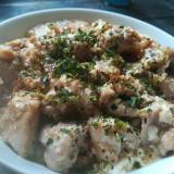 【節約】鶏もも肉と豆腐の香味焼き