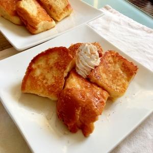 厚切りシナモンシュガーのとろけるフレンチトースト♡