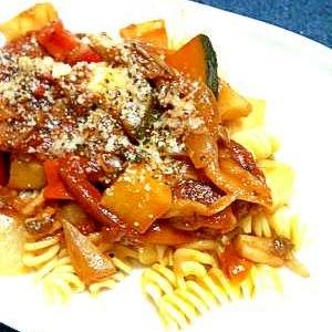野菜をたっぷり味わう☆トマトパスタ
