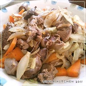 鉄分補給☆鶏レバーの野菜炒め