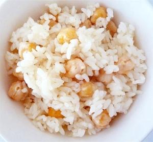 ひよこ豆の炊き込みご飯