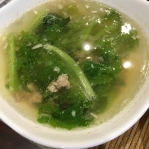 餃子のタネ中華スープ