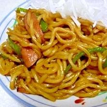 中華麺でしっとり焼きそば