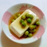 グリンピースあんかけ豆腐
