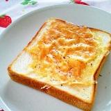 フライパンdeパン♪焦がしチーズのトースト