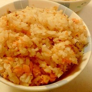 鮭と塩昆布の炊き込みご飯