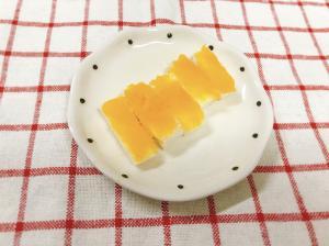 【離乳食後期】かぼちゃペーストのスティックパン