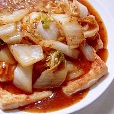 豆腐の白菜マーボーあんかけ