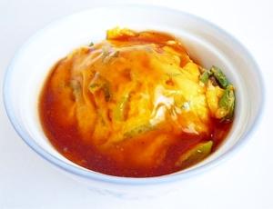 フライパン1つで 長ねぎと卵の甘酢あんかけ天津丼