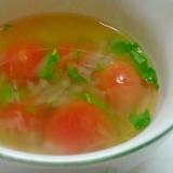 ミニトマトとバジルのスープ