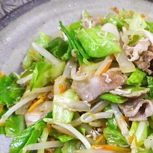 豚しらす野菜炒め