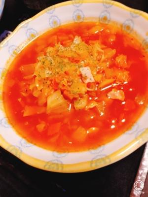 トマト鍋の素で作る!簡単トマトスープ