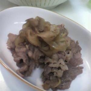 ご飯が進む!ヤーコンと牛肉の炒め煮