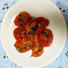トマトとミントのオリーブ漬け