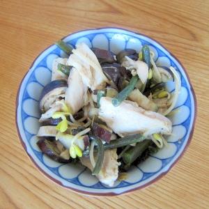鷄肉と茄子と蕨酢漬け