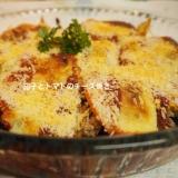 簡単秋茄子とトマトのチーズ焼き