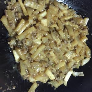 大根と合挽肉の味噌煮