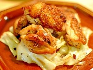 チキンとキャベツのガーリックしょうゆ炒め