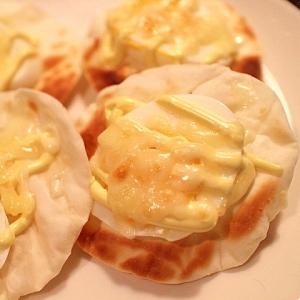 【簡単】余った茹で卵と餃子の皮で焼きカナッペ