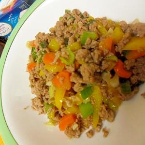 豚ミンチと野菜のガーリック炒め