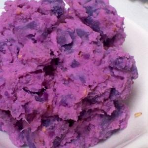 クリームチーズ入り♪紫芋の鮮やかサラダ