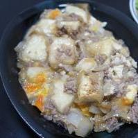 簡単♪豆腐と挽肉の卵とじ
