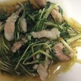 水菜と豚肉の煮物