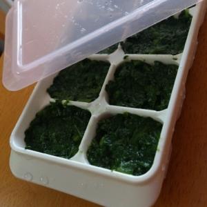 <離乳食>ほうれん草冷凍保存