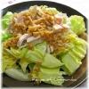 春キャベツと蒸し鶏(鶏胸肉)のホットサラダ