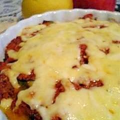 作り置きのソースで作るナスとかぼちゃのチーズ焼き♪