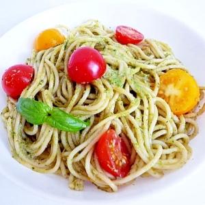バジルとプチトマトパスタ ジェノベーゼ