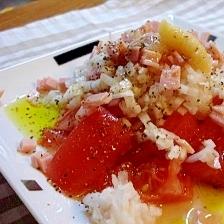 血液サラサラサラダ★玉ねぎたっぷりトマトサラダ