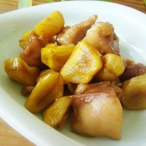 ほくほく美味しい♪栗と鶏肉の甘露煮