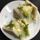 食パン10枚切りで☆チーズ玉子とハムサンドイッチ☆