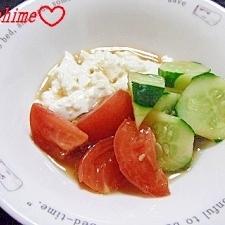 中華風☆きゅうりとトマトのお豆腐夏サラダ
