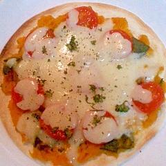トマトとかぼちゃのピザ