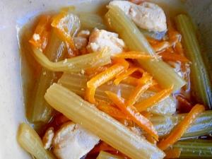 ふきの水煮で簡単、時短!☆鶏肉・ふき・人参の煮物☆