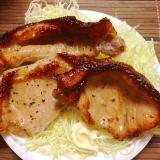 【ノンフライヤー】豚のガーリックペッパー焼き