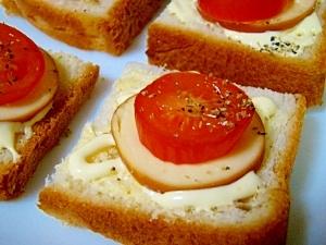 トマト&チーズのオープンサンド