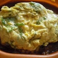 冷食を使って!  「カレードリアのオクラ卵のっけ」