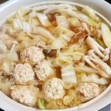 白菜大量消費‼糖質OFFの鶏団子鍋